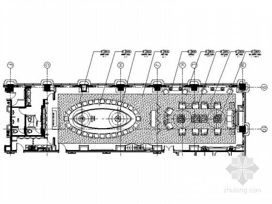 [南通]奢华五星级酒店美国厅贵宾室CAD装修图