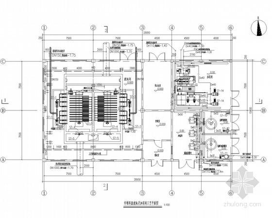 [河北]工业园区5万吨污水处理厂设计图(水解酸化+CASS+高密度澄清池+转盘滤池)