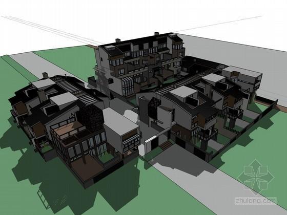 低层建筑SketchUp模型下载