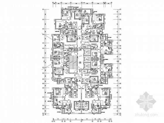 [四川]高层商业住宅楼空调通风及防排烟系统设计施工图(分体式空调系统)