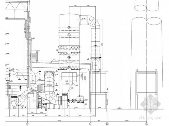 锅炉房脱硫塔大样图