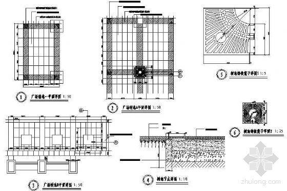 广场树池详图