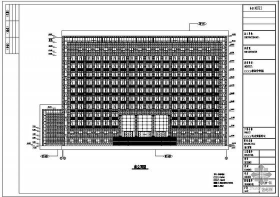 某公安局幕墙工程设计图