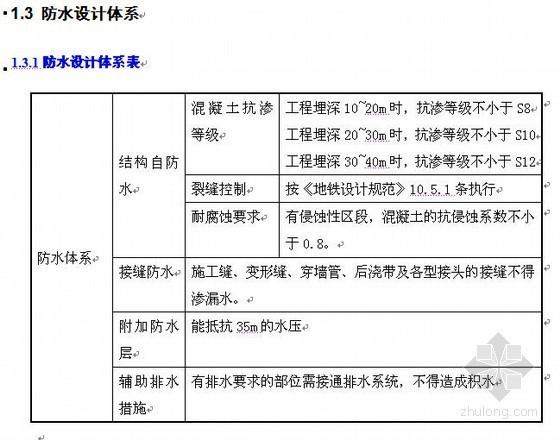 广州地铁某标段结构防水施工专项方案