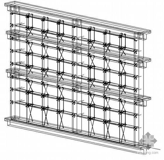 某大型索结构点式幕墙三维图