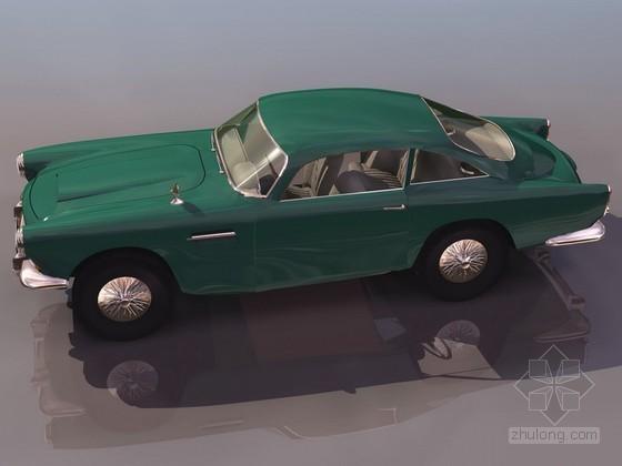 绿色经典老爷轿车效果图模型