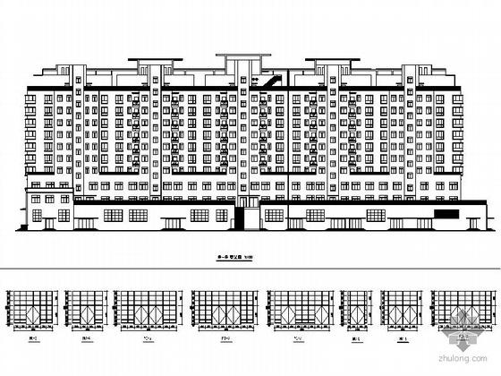 [漯河]某十一层商住两用楼建筑施工图