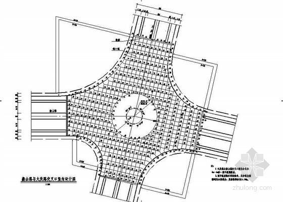 市政道路工程道路交叉口竖向节点详图设计