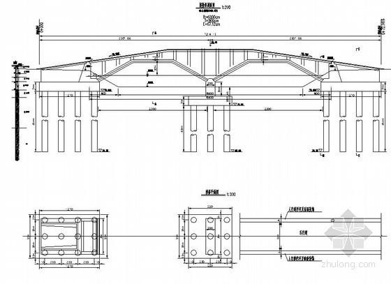 新乡市某空腹式拱桥土建工程设计图(一)