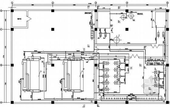 某大厦制冷机房空调系统设计图纸