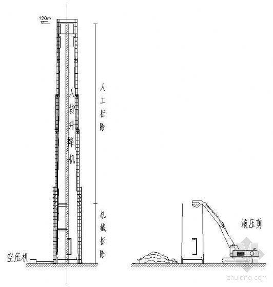 苏州某电厂120米烟囱拆除施工方案