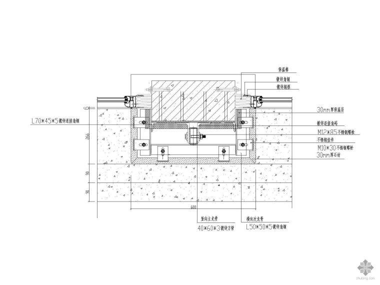 干挂石材柱节点详图