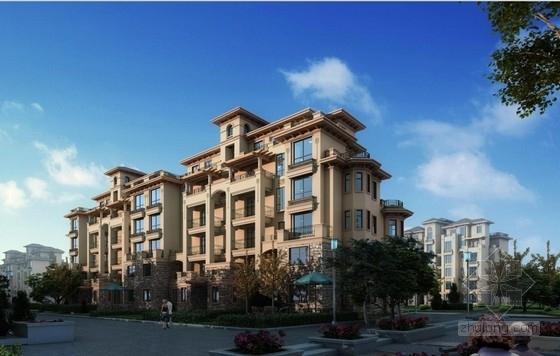高层塔楼式住宅楼建筑效果图