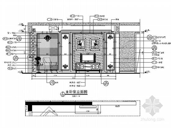 [天津]大型地产设计院设计欧式精装样板房施工图(含两户型)-[天津]大型地产设计院设计欧式精装样板房施工图立面图