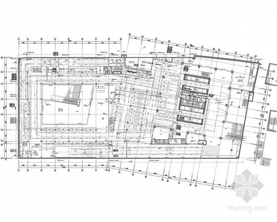 [广东]55层办公塔楼及商业裙房强弱电施工图400张(系统全面 顶尖设计院设计)