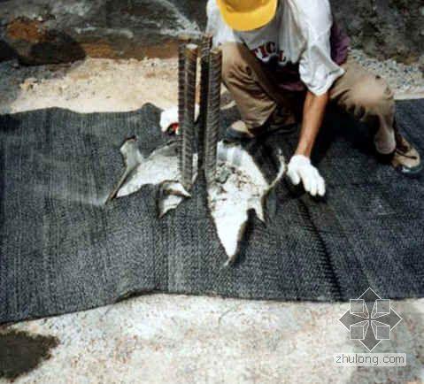 地下室防水毯施工图片(8张)