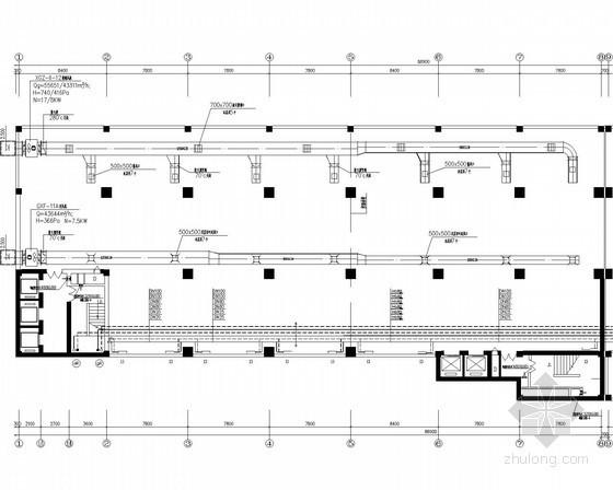 高层办公楼采暖通风系统设计施工图(高地区 散热器供暖)