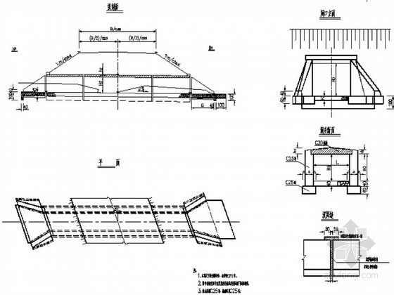 [湖南]盖板涵通用图37张(2013年设计)