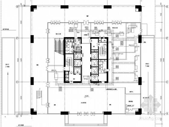 [深圳]高层商业办公楼空调通风及防排烟系统设计施工图(模块化风冷机组 含人防设计)