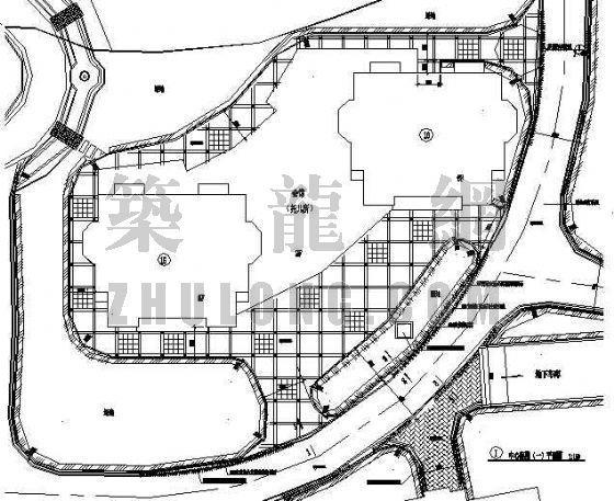 浙江楼盘中心庭院景观施工图