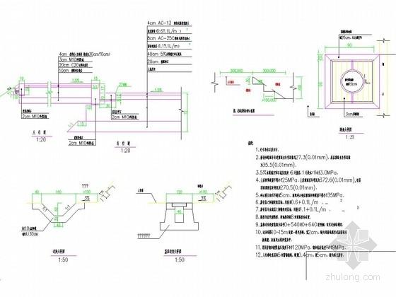 [浙江]标宽12米沥青混凝土路面城市支路工程施工图73张(含照明管线 排水)