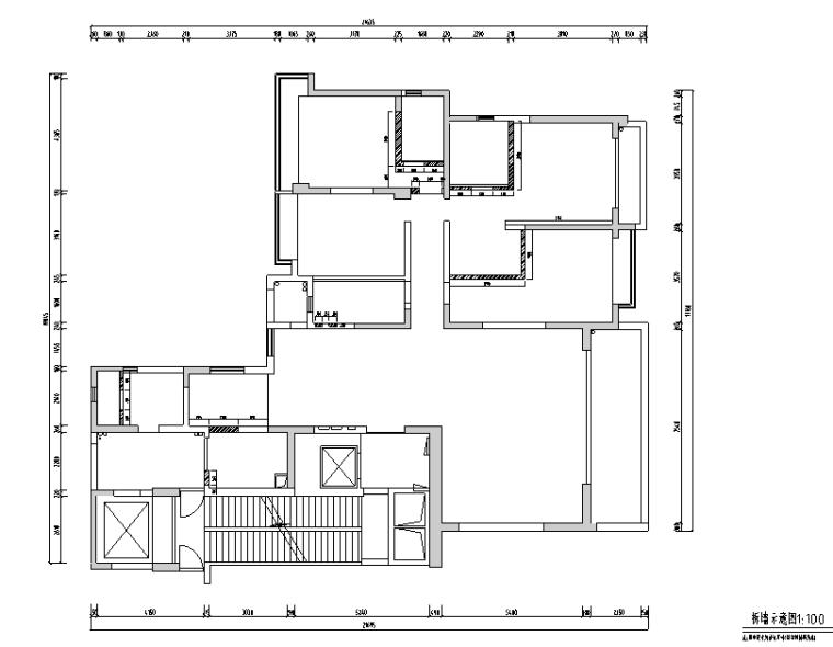 海归派轻奢家居样板房设计施工图(附效果图)