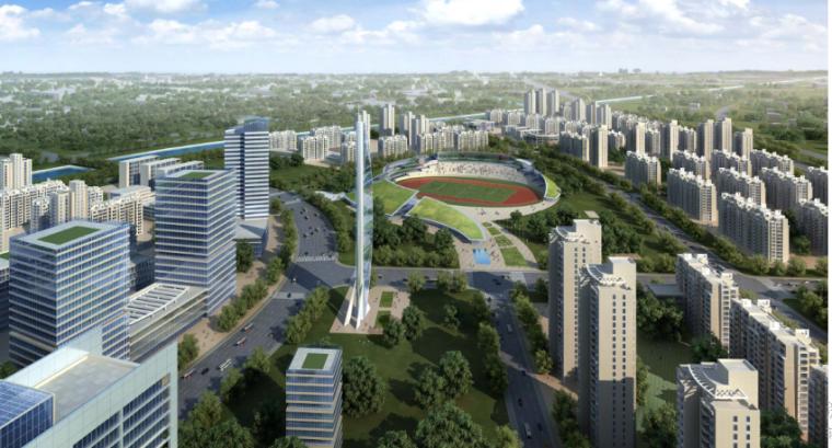 北京东坝商务核心区规划设计-