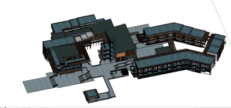 [精品]山地旅馆——SU建筑模型