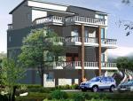 四层别墅建筑设计文本包含效果图+施工图