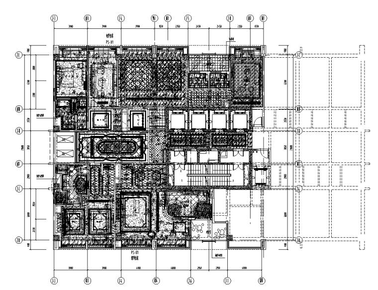 世代锦江国际酒店贵宾楼施工图图纸+效果图