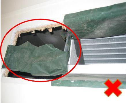 风管安装常见11项质量问题实例,室内机安装质量解析!_10