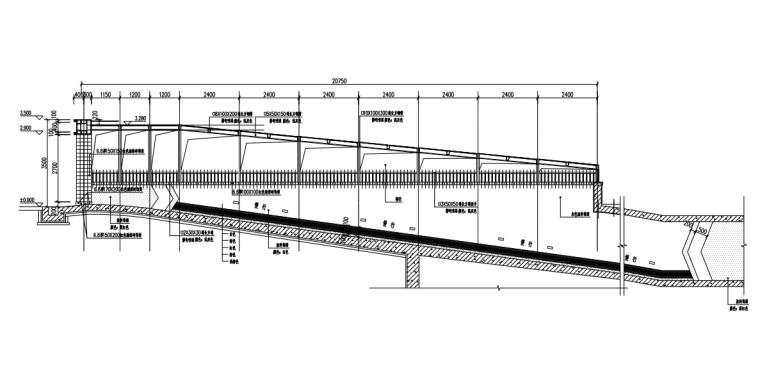 车库入口钢结构施工图