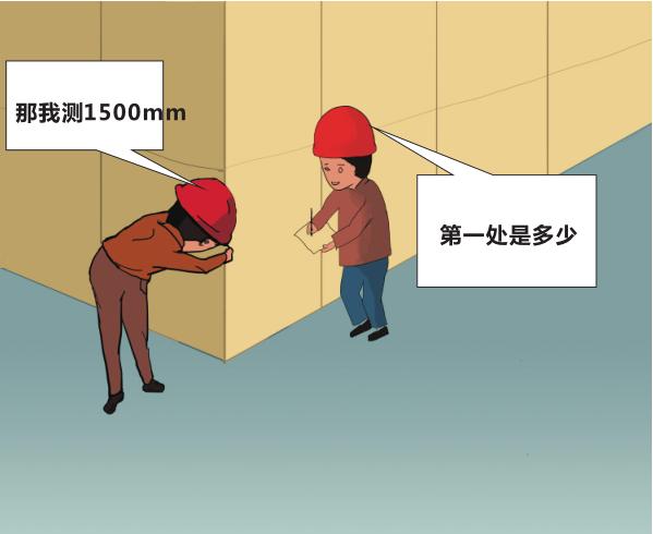 知名集团在建工程实测质量可视化体系动漫版-阴阳角方正(墙面饰面砖工程)