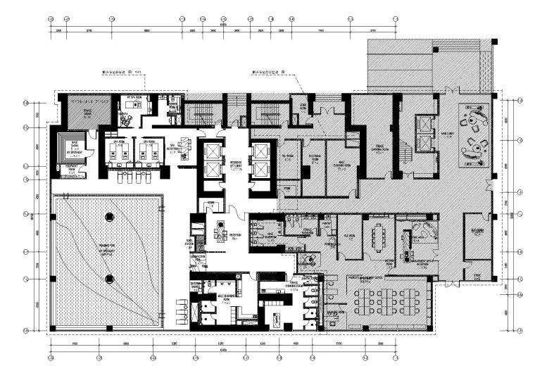 [深圳]SCDA-华润城润府一号楼会所、办公区设计方案+施工图+物料表