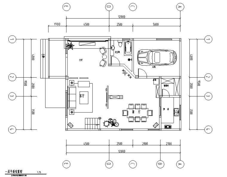 [山东]简欧风格二层别墅室内设计施工图