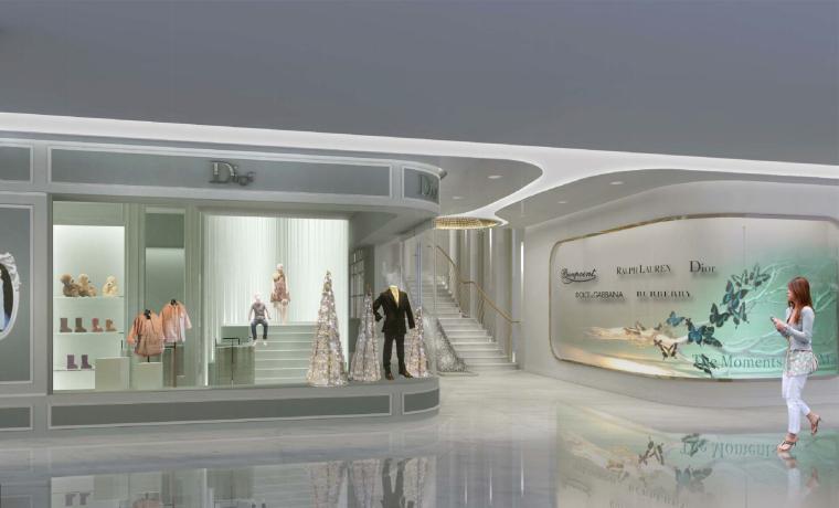 [北京]银泰中心商业公共区域设计施工图(附效果图+物料表+结构图纸+消防图纸)-三层儿童区效果图-1