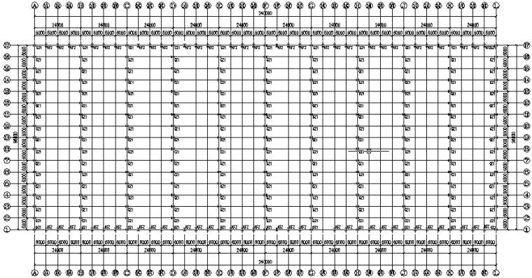 石材公司96米×240米门式刚架钢结构施工图(CAD,20张)