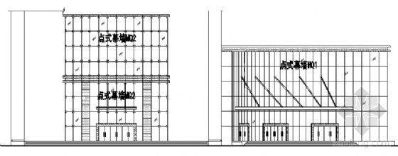 宁工新寓点式幕墙节点详图