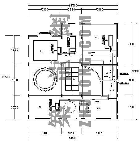 VRV空调设计图资料下载-某别墅大金VRVⅡ空调设计图
