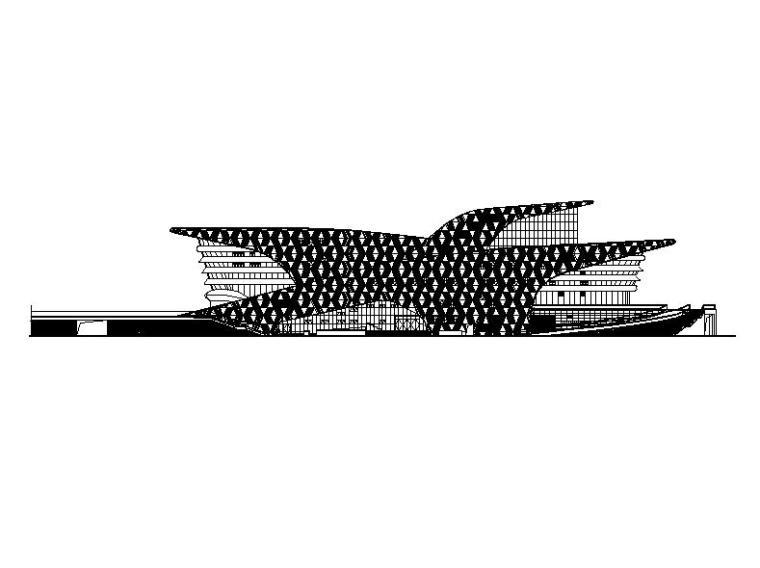 [山西]螺旋状金属屋面县级演出大剧院建筑施工图