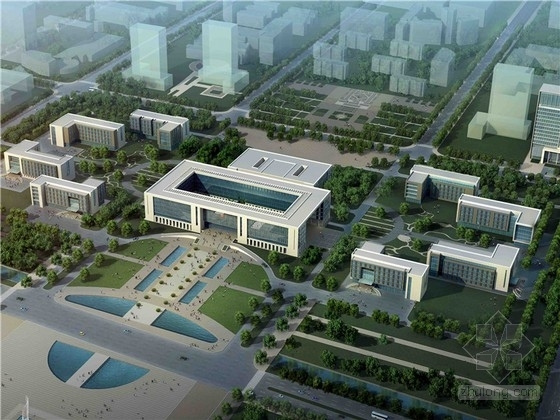 [山东]现代综合行政中心建筑设计方案文本