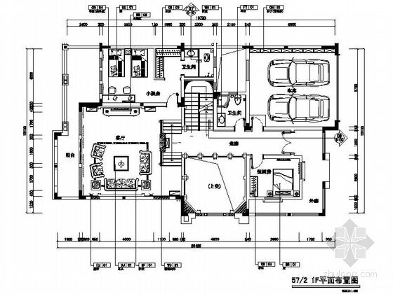 [重庆]欧式别墅府邸施工图(含水电、照明施工图)