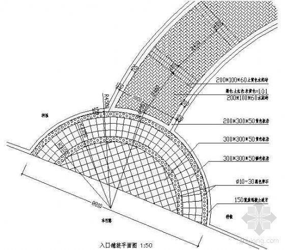 入口铺装平面图2