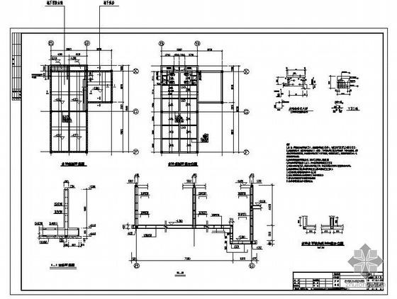 某地下消防水池及泵房结构设计图(含计算书)
