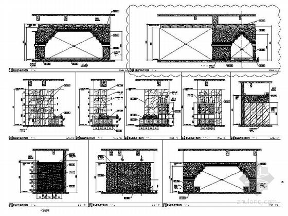 [厦门]中央商务区五星级豪华酒店装修图(含效果)Q吧立面图