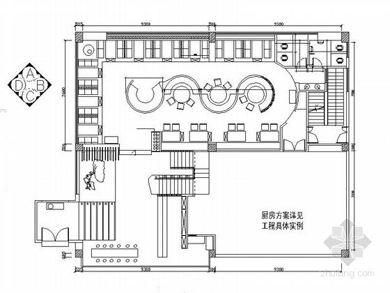 [福建]传统气息时尚火锅店室内装修CAD施工图(含效果)