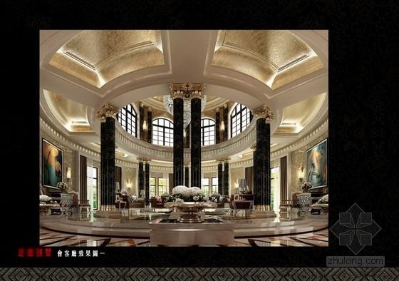 [湖南]某三层豪华别墅设计方案图