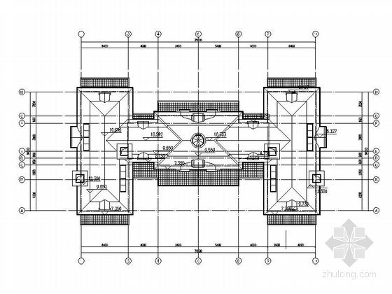 [上海]欧式风格2层会所别墅建筑设计施工图-欧式风格2层会所别墅各层平面图