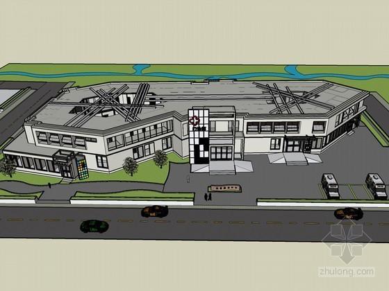 社区医院SketchUp模型下载