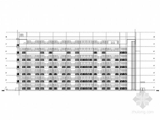 [广西]三栋六层不同类型框架结构宿舍楼结构施工图(含建筑)